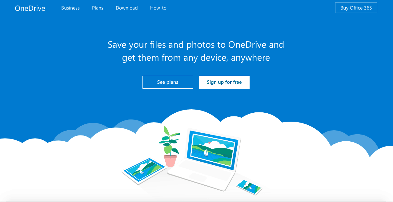 Signing up to OneDrive
