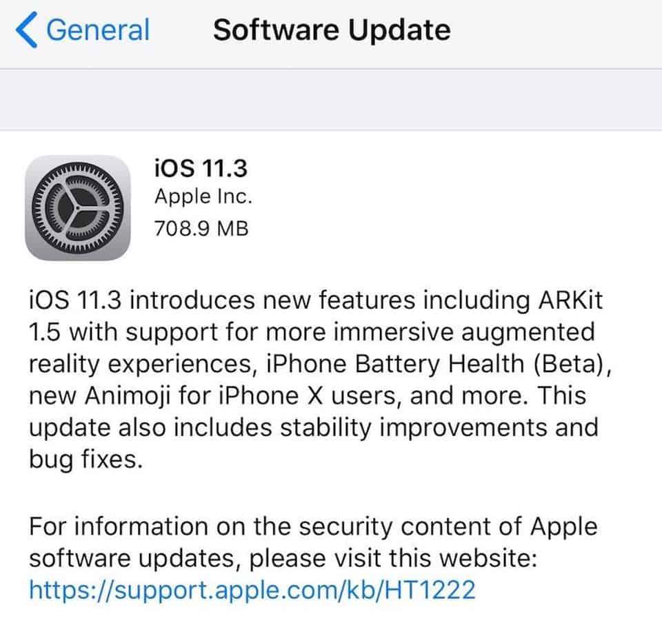ios 11.3 features
