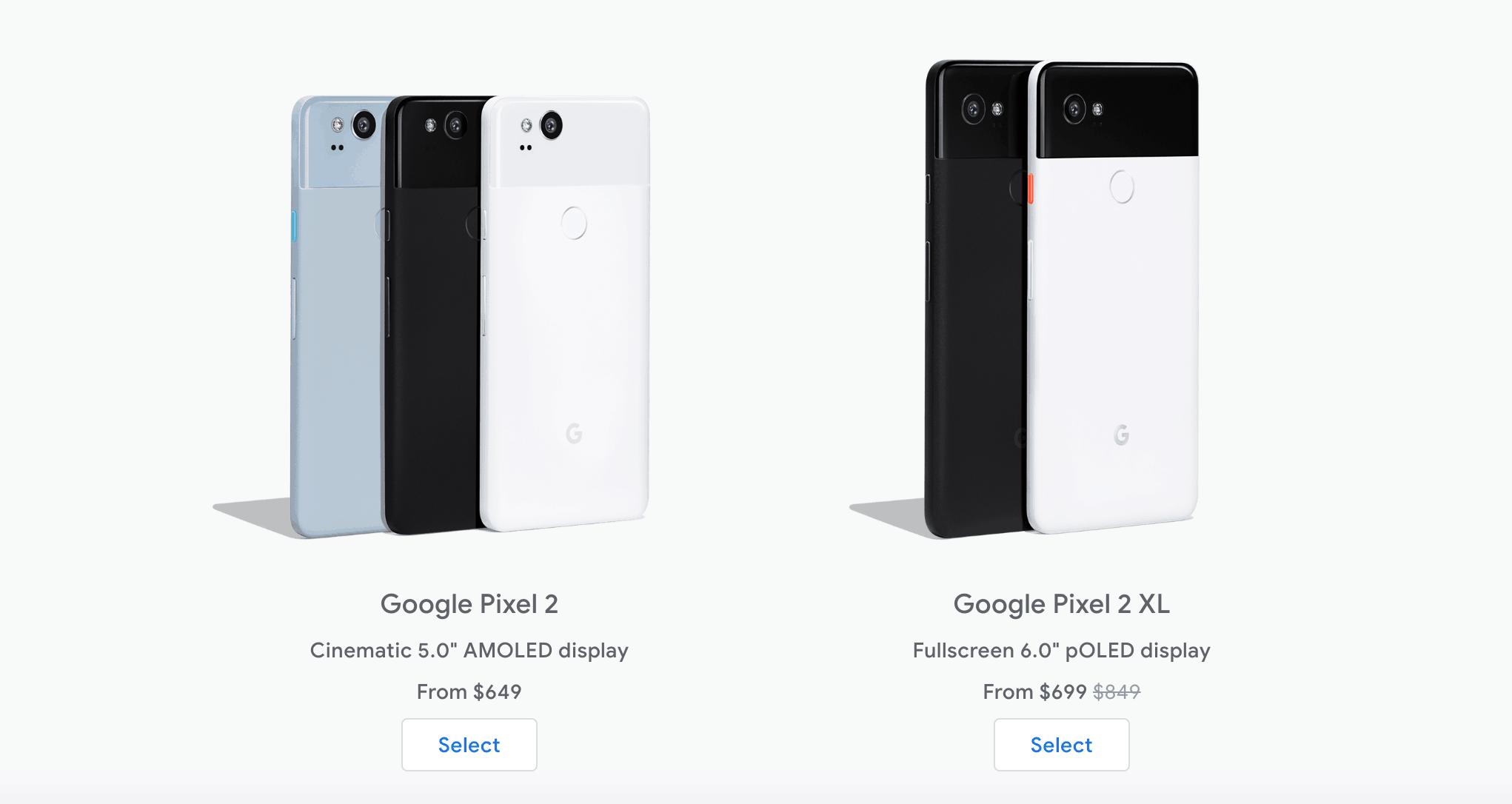 google pixel 2 price drop