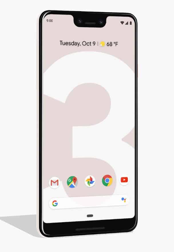 google pixel 3 xl notch