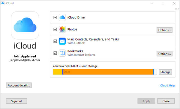 Accessing iCloud Drive on a Windows computer