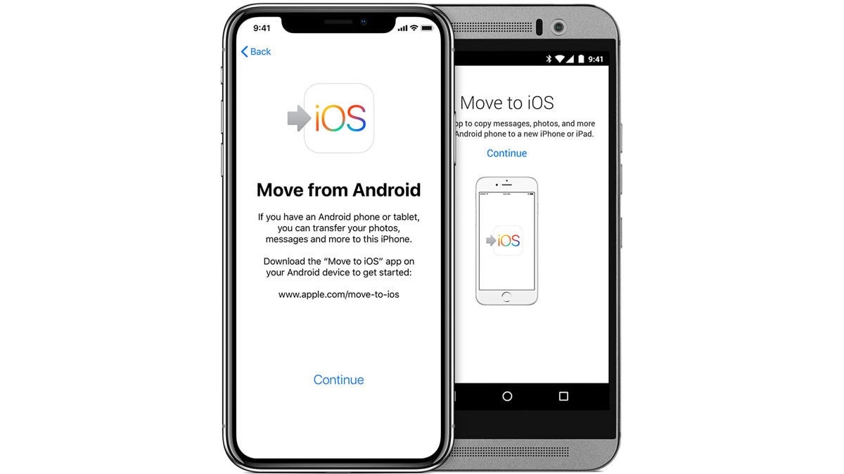 Move to iOS app transferring contacts from android to iPhone
