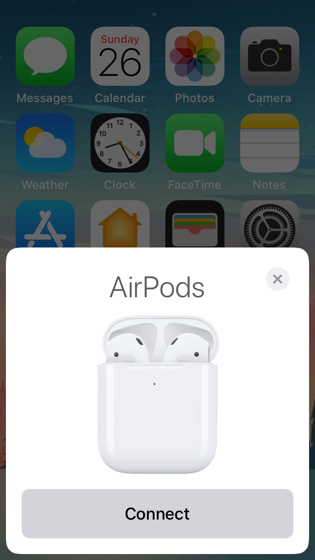 connecting AirPods to iPhone