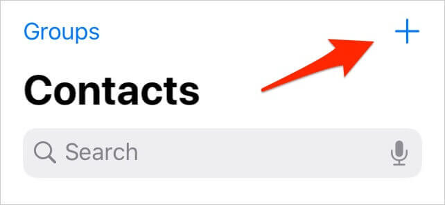 adding contact to use with AutoFill on iPhone