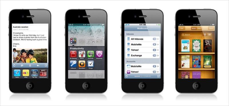 Screenshot of iOS 4