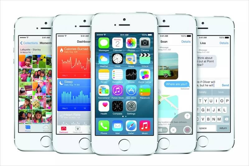 Screenshot of iOS 7