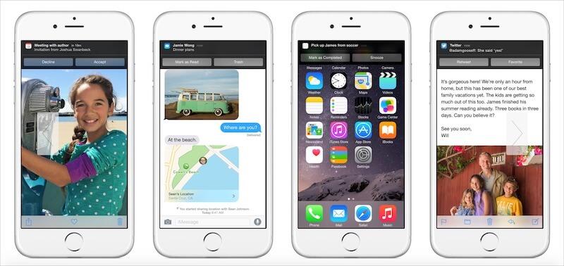 Screenshot of iOS 8