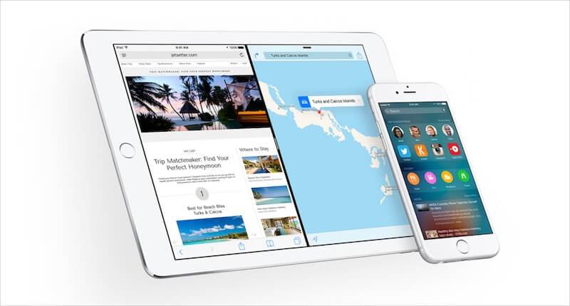 iOS 9 on an iPhone 6S