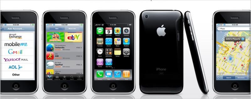 Screenshot of iPhone OS 2