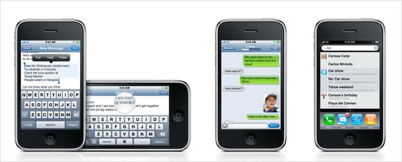 Screenshot of iPhone OS 3