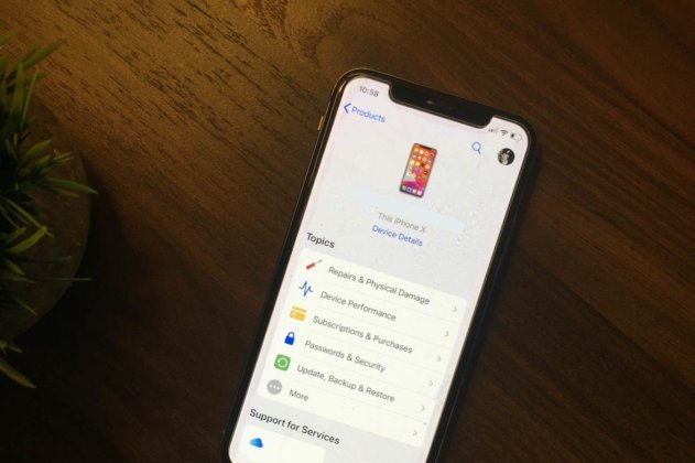 Setting up a Genius Bar reservation on an iPhone X