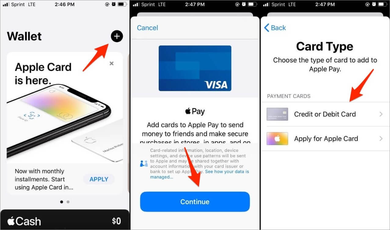 Setting up Apple Pay on iPhone