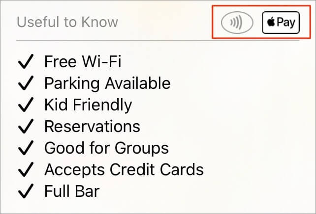 Check for Apple Pay in Maps on iPhone and iPad