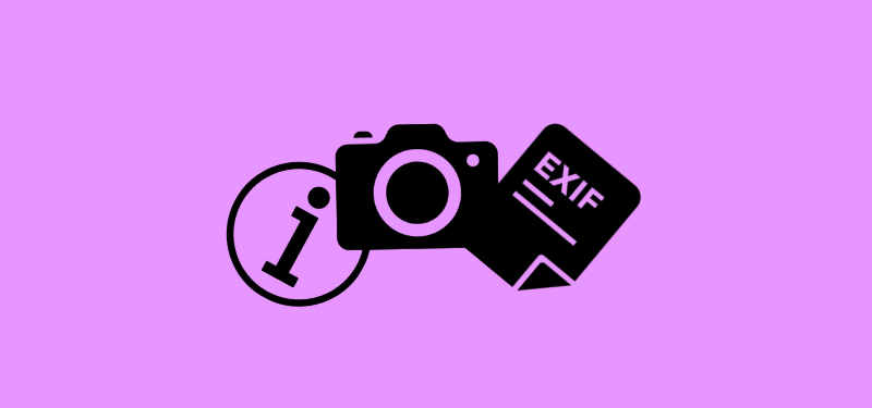 3 icons (information, camera, exif) linked together