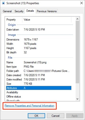 Removing metadata from photos on Windows