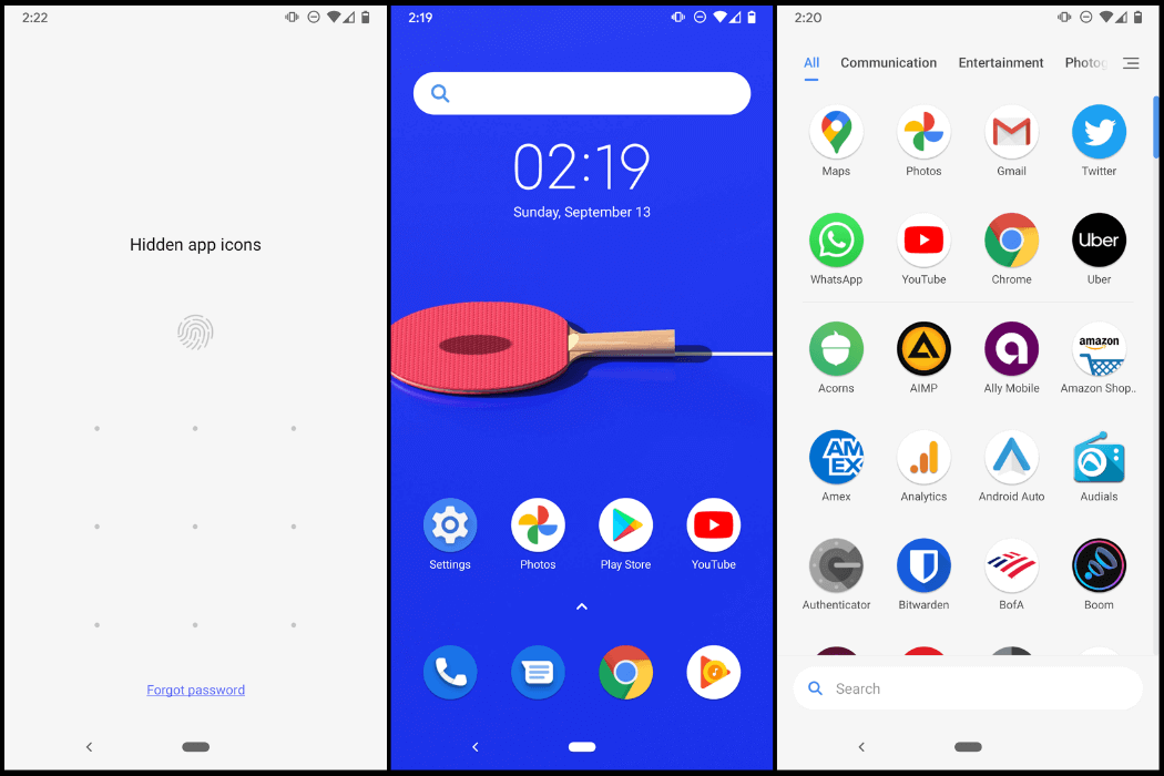 POCO Launcher on a Google Pixel 3