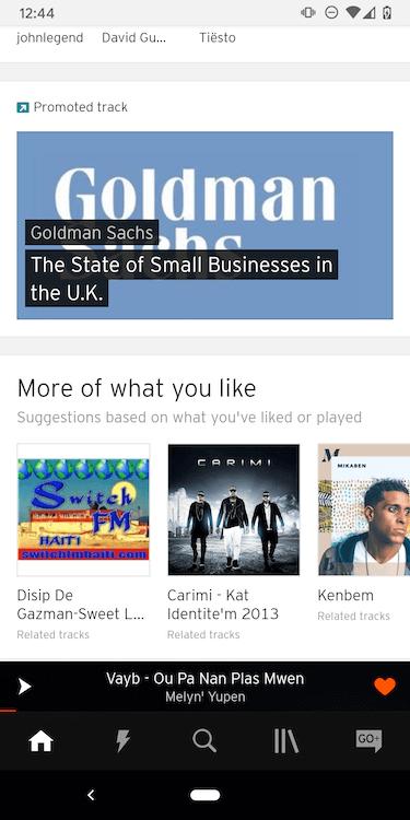 SoundCloud Download Music Main Page