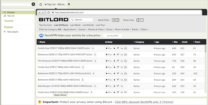 Bitlord torrent client