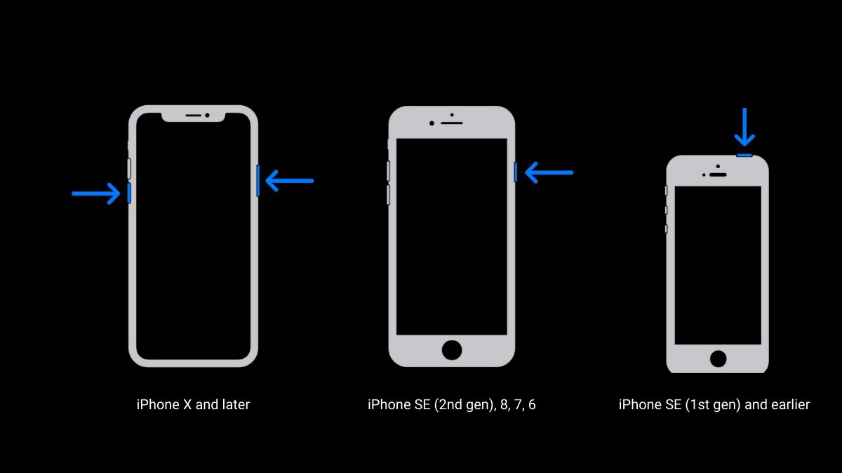 Steps to restart an iPhone